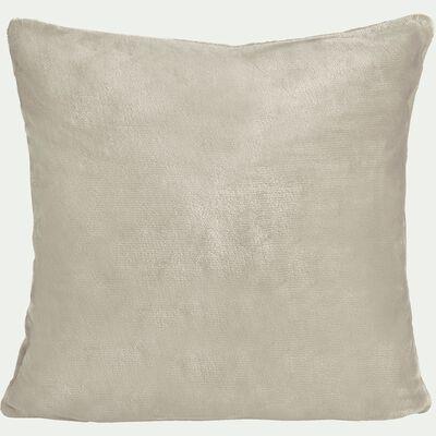 Housse de coussin effet polaire en polyester - beige roucas 40x40cm-ROBIN