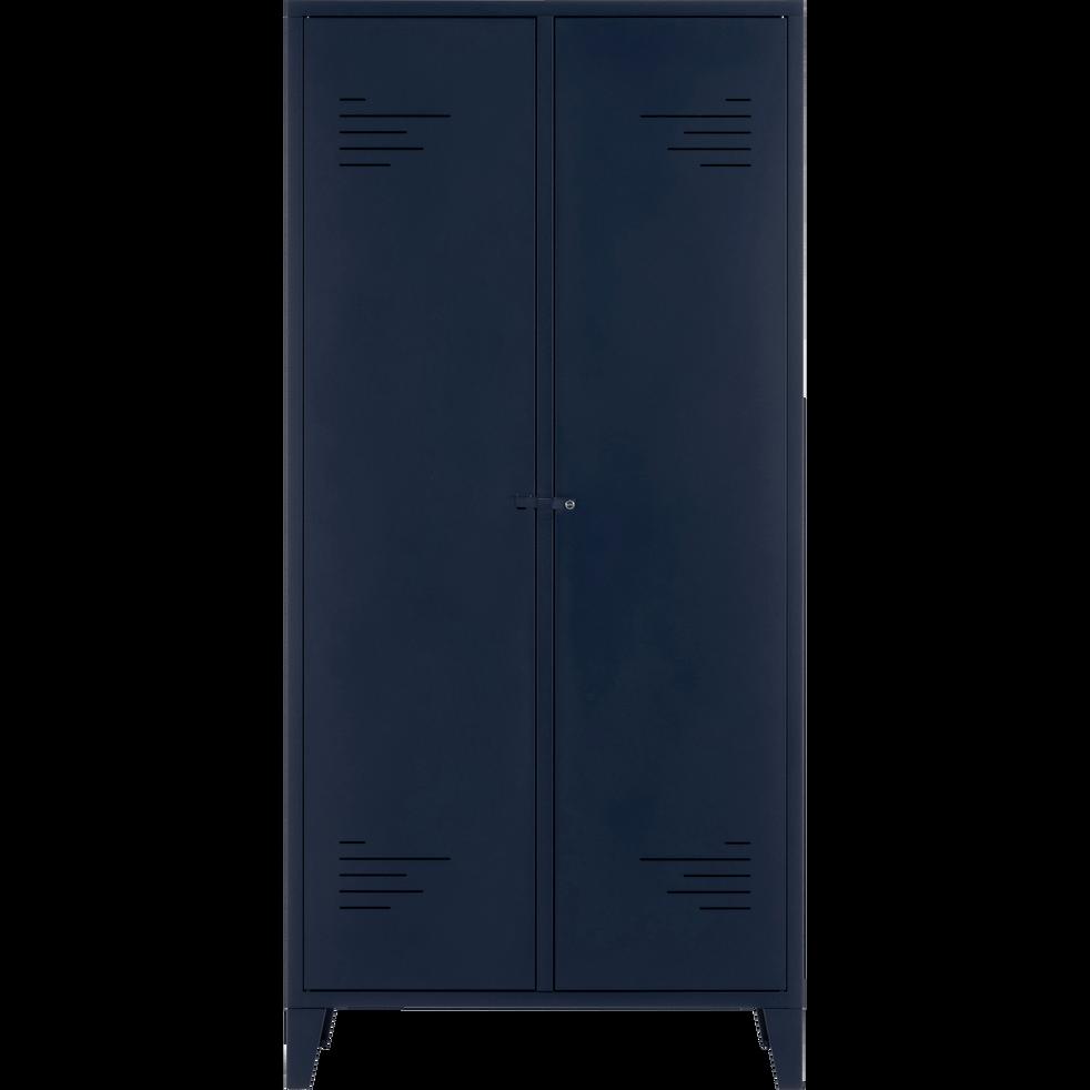 Armoire 2 portes en acier Bleu myrte-LOFTER