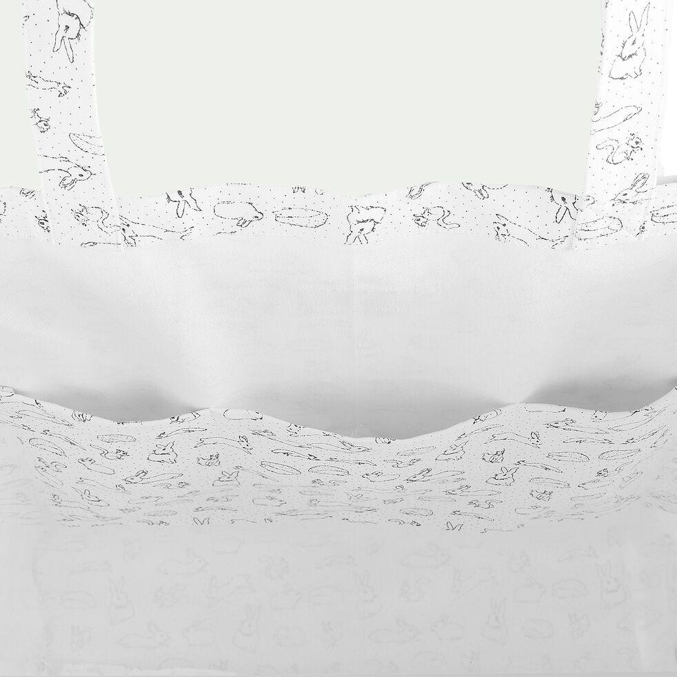 Sac cabas 42x60cm à motif bestiaire - blanc-Balade