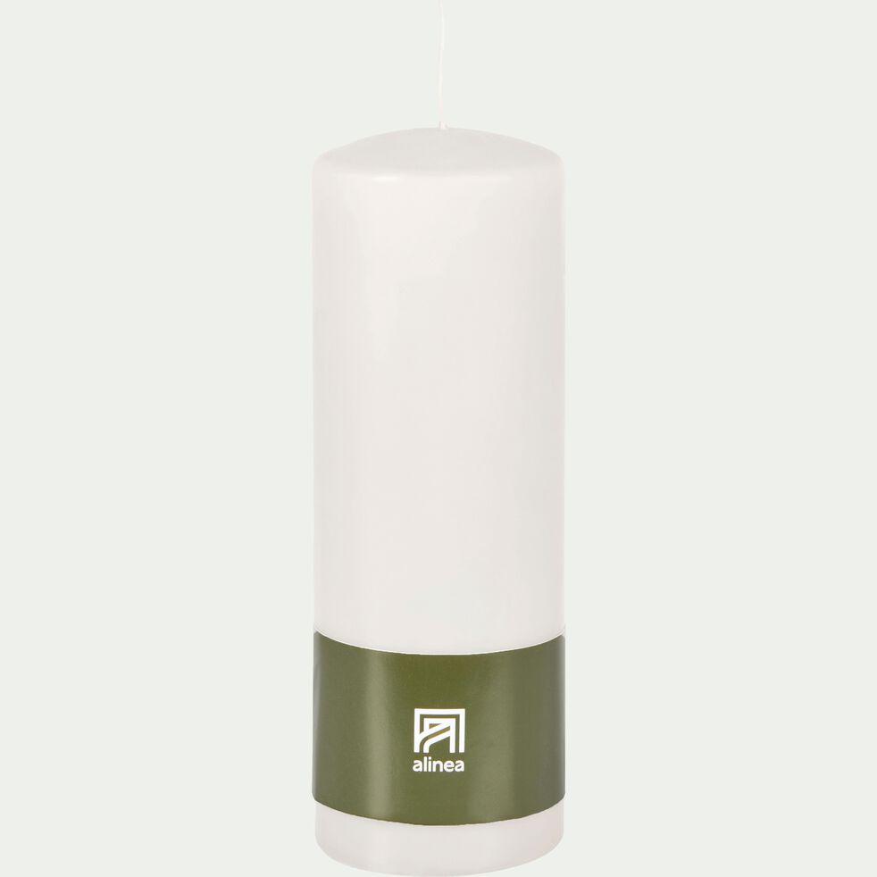 Bougie cylindrique - blanc ventoux H19,5cm-HALBA