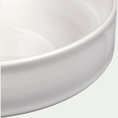 Saladier en faïence blanc ventoux D23cm-VADIM