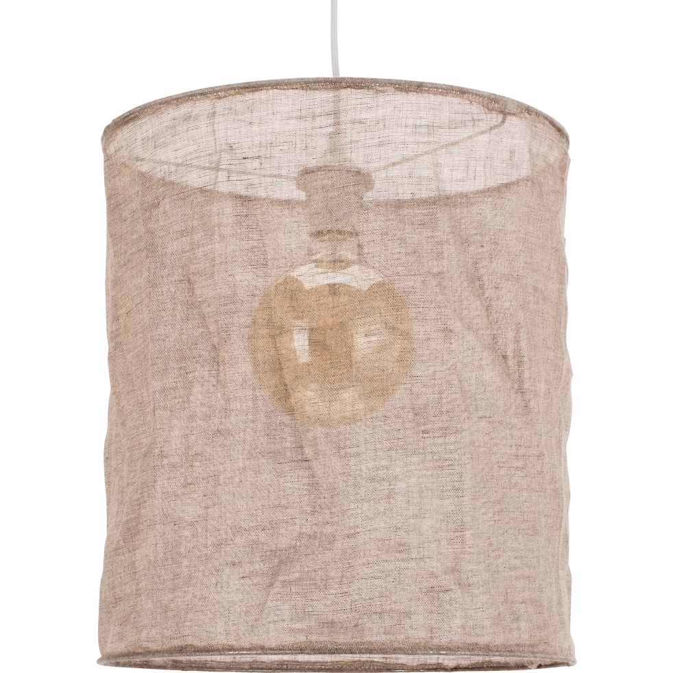 Suspension en lin naturel D35cm-ORMES
