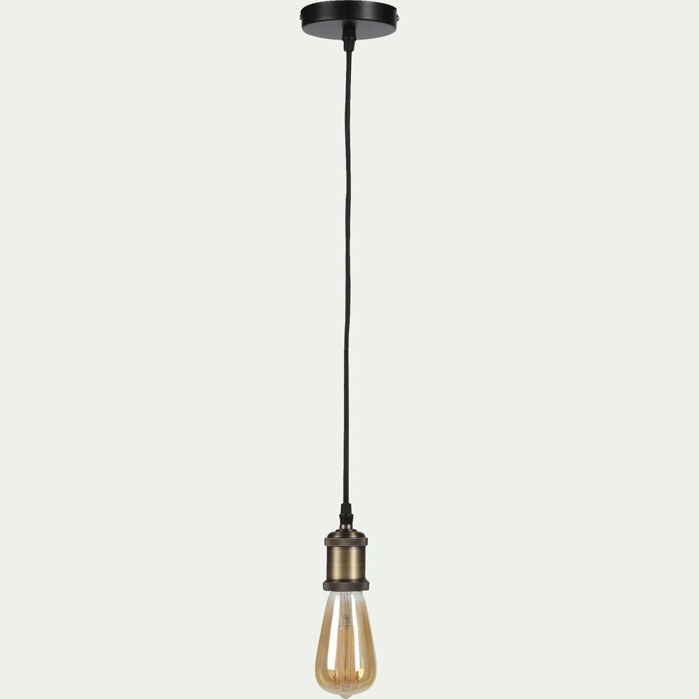 Suspension décorative douille bronze H100cm-SAVANA