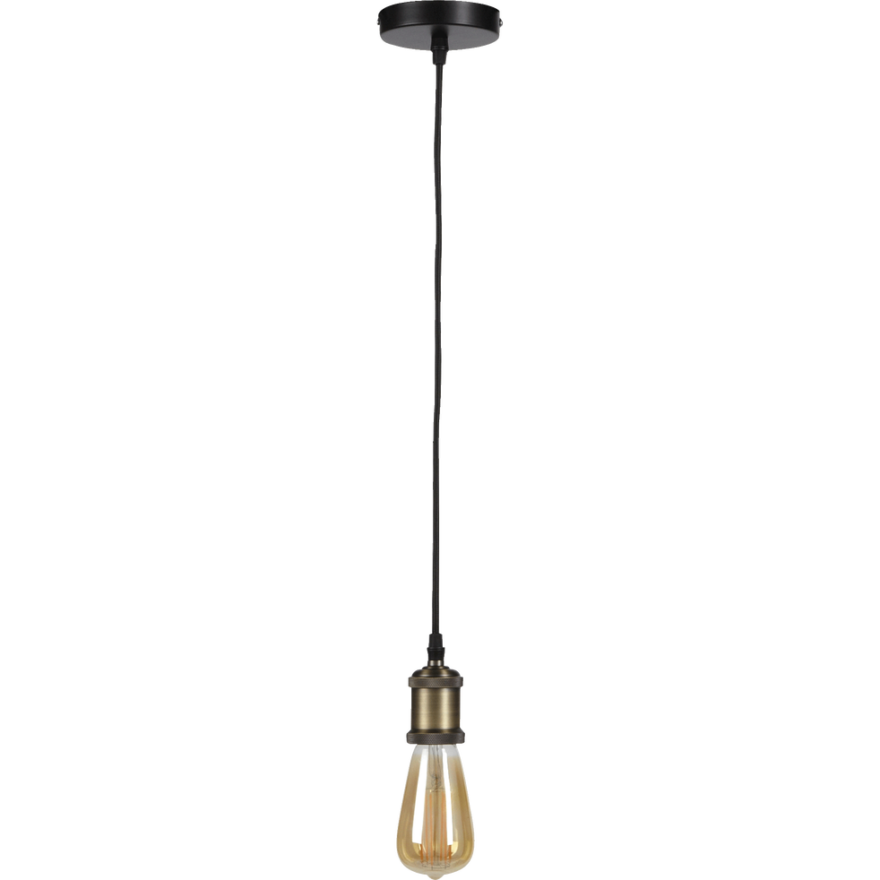 Suspension décorative douille bronze H100cm-SAVANA