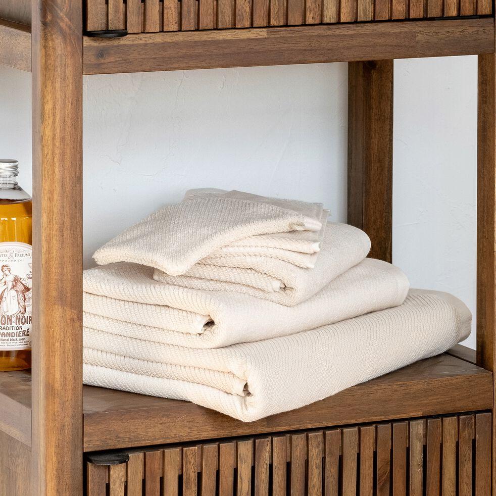 Serviette de bain bouclette en coton bio - beige roucas 50x90cm-COLINE