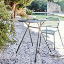 Table de jardin en acier - bleu figuerolles (2 à 4 places)-RICARDO