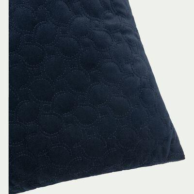 Coussin effet velours bleu 40x40cm-JAURES