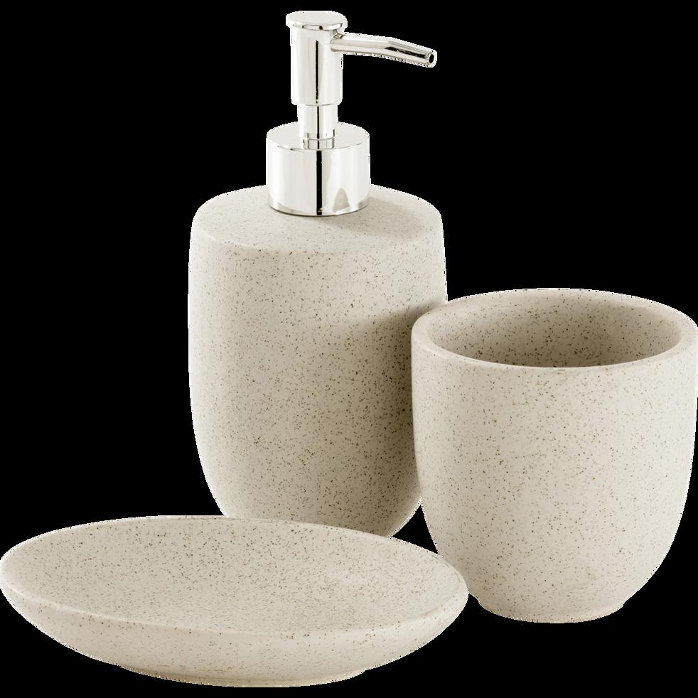 Porte savon en céramique effet moucheté-ERIS