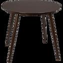 Table de jardin marron en verre trempé et aluminium (4 places)-PALERMO
