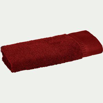 Serviette invité bouclette en coton égyptien - rouge sumac 30x50cm-ARROS