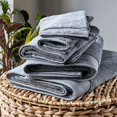Gant de toilette en coton peigné - gris restanque-AZUR