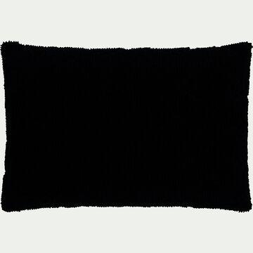Coussin rectangulaire en coton gris calabrun 40x60cm-LANI