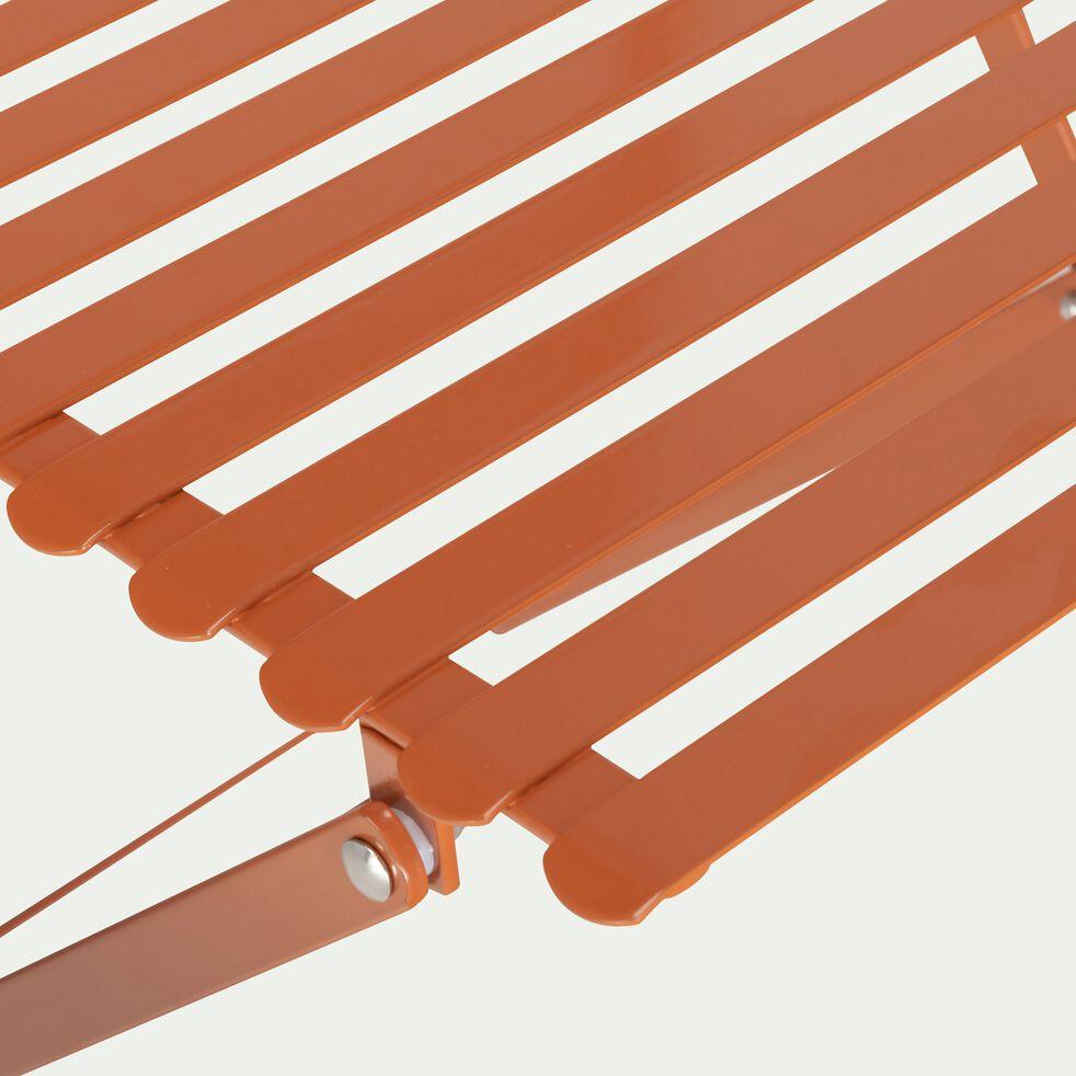 Chaise de jardin pliante en acier - marron rustrel-CERVIONE