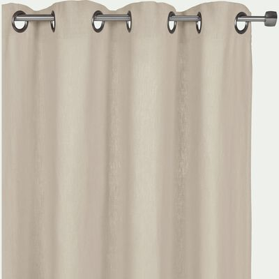 Rideau à oeillets en lin lavé beige roucas 140x360cm-VENCE