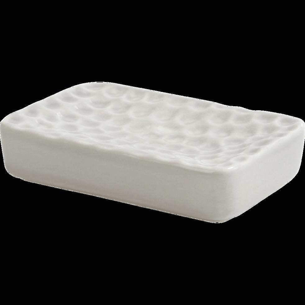 Porte-savon gris effet martelé-MARTELY