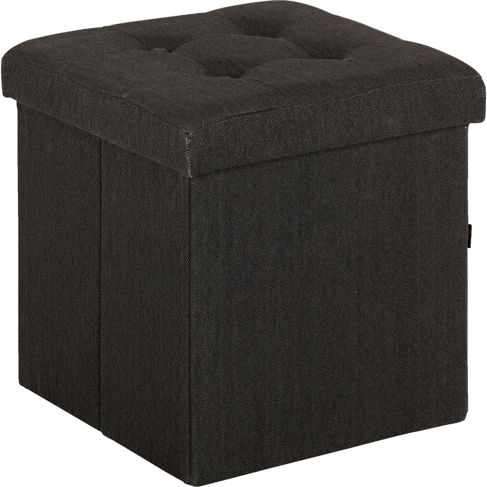 pouf coffre coloris gris anthracite pliable oliver poufs et repose pieds alinea. Black Bedroom Furniture Sets. Home Design Ideas