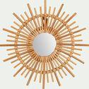 Miroir soleil en rotin D30cm-SOLEA
