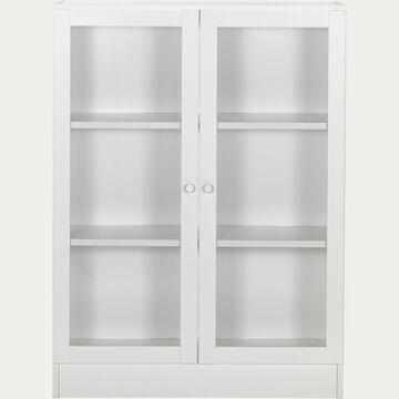 Bibliothèque en bois - blanc H107cm-BIALA