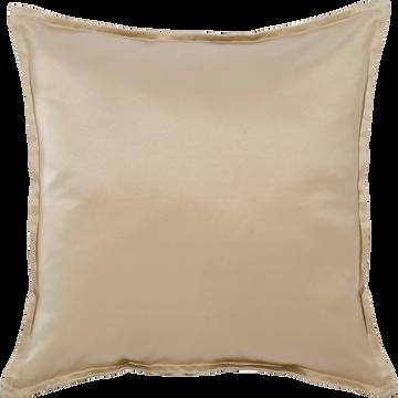 Coussin satiné beige 42x42cm-SANTA