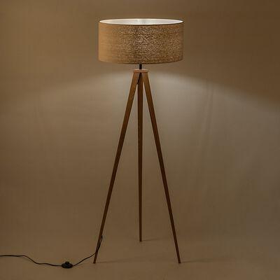 Lampadaire en bois - beige D50cm-TRIX
