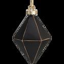 Boule de Noël géométrique en verre noir D6,5cm-TLIT