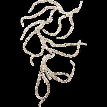 Guirlande pin doré en plastique l150cm-GIAP