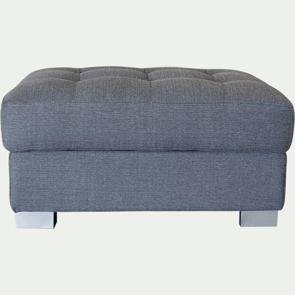 Pouf en tissu avec coffre - gris moyen-MAURO