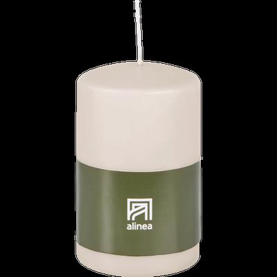 Bougie cylindrique blanc nougat-HALBA