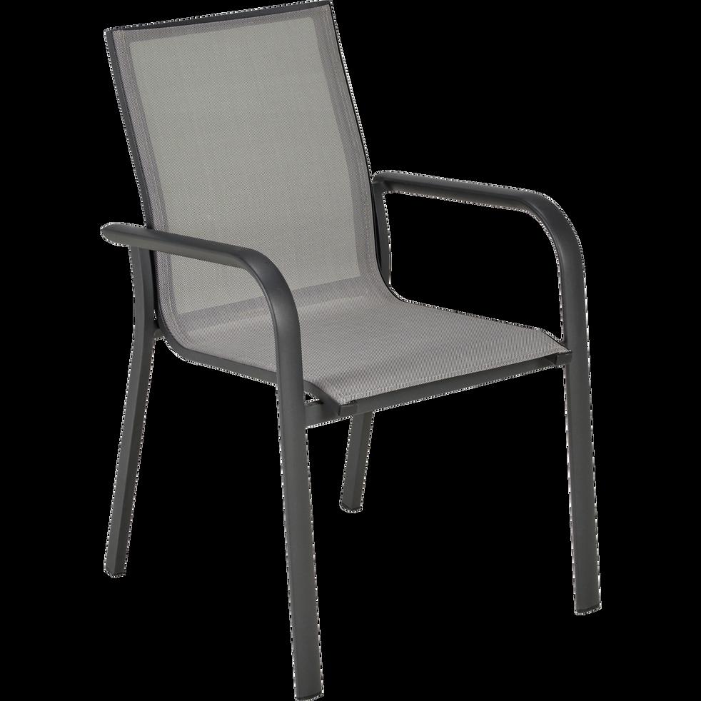 Fauteuil de jardin empilable gris restanque sicile chaises de jardin alinea - Alinea fauteuil jardin ...