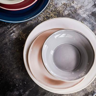 Assiette plate en faïence blanc ventoux D27cm-LUBERON