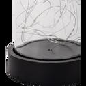 Cloche en verre micro LED H32cm-BERHIL