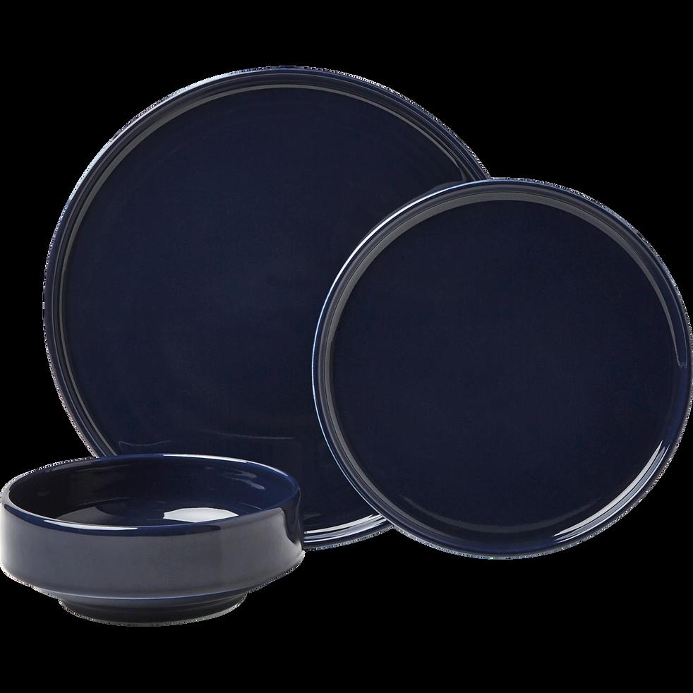 Coupelle en faïence bleu myrte D15,5cm-VADIM