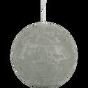 Bougie ronde vert olivier D10cm-BEJAIA