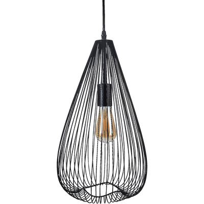 Suspension en métal filaire noir D25cm-CLAUDINE
