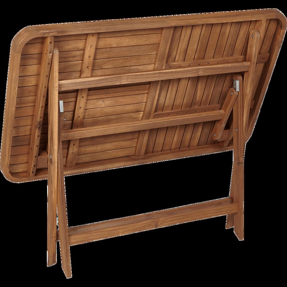 Youk - Table de jardin pliante en acacia huilé (2 à 4 places)