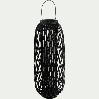 Lanterne en osier - noir D35xH92cm-NINA