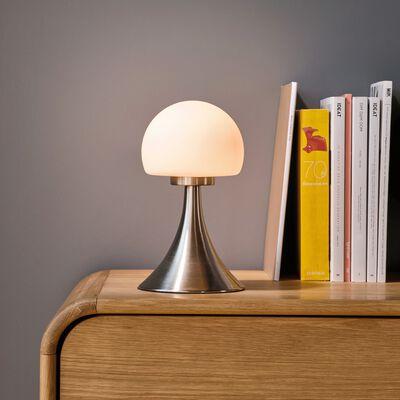 Lampe tactile LED en métal et verre D15xH26cm - argent-CHAMPI