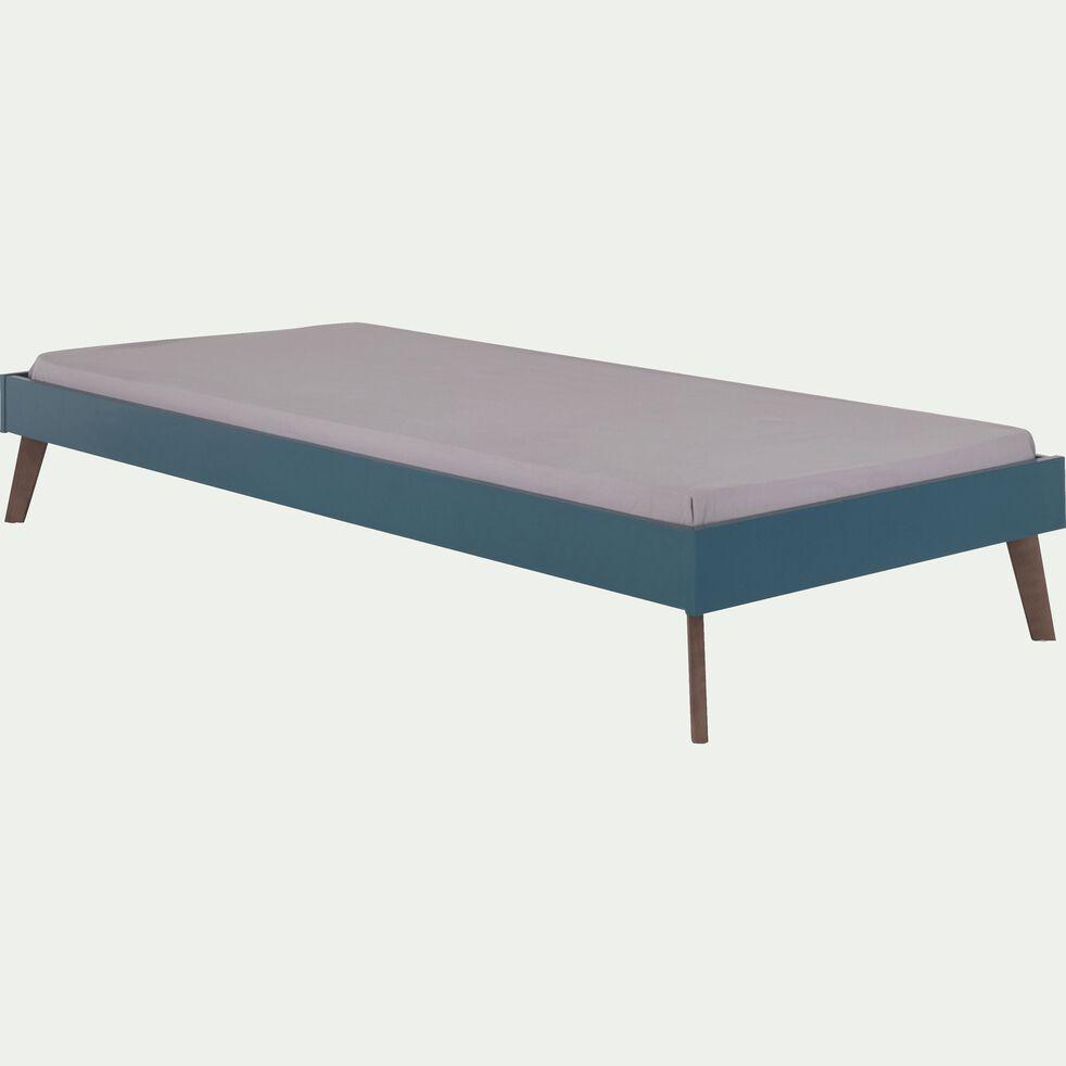 Lit enfant 1 place en bois 90x200cm - bleu figuerolles-SACHA