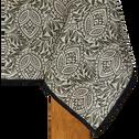 Nappe en lin verte à motifs amande 170x300cm-ARLES