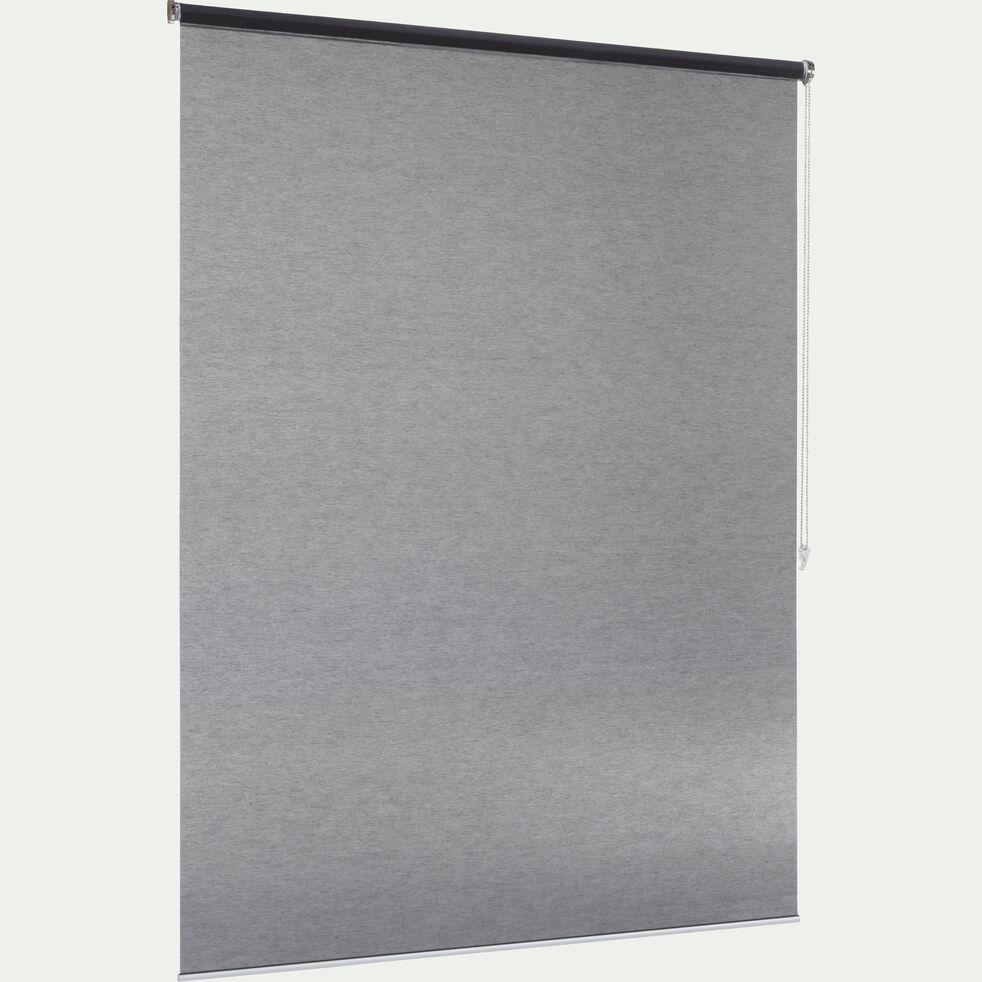 Store enrouleur voile - gris anthracite 100x250cm-VOILE