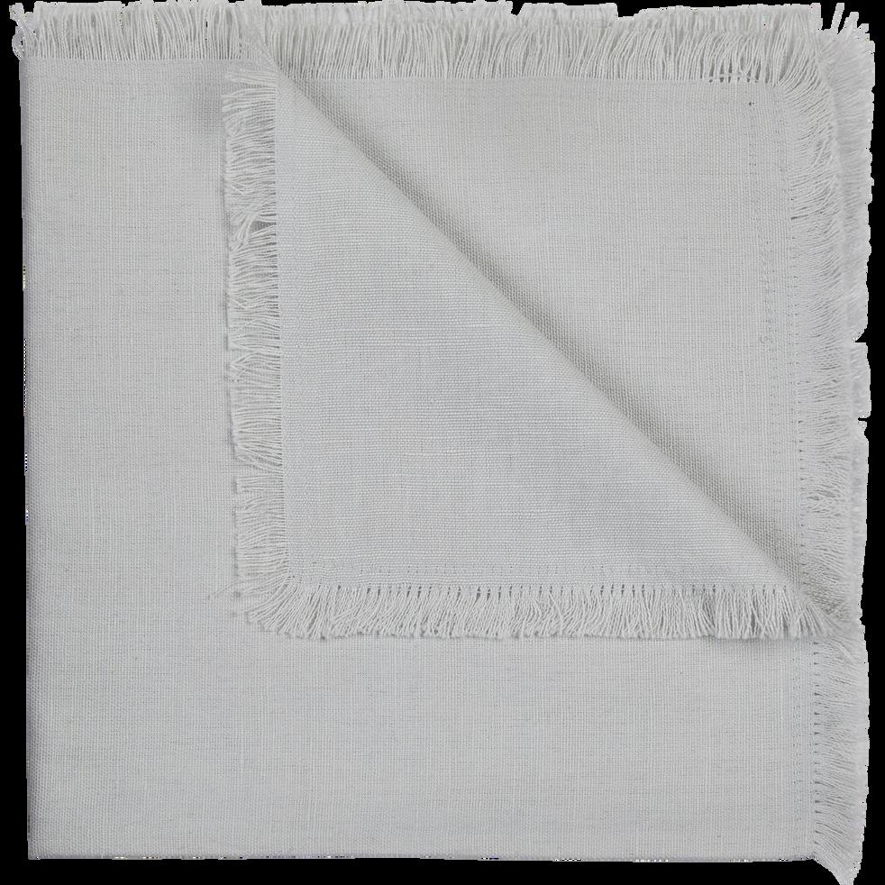 Serviette de table en lin et coton gris borie 41x41cm-CASTILLON