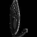 Patère noire en métal 1 crochet-PAN