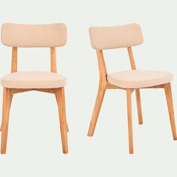 Chaise en tissu - blanc nougat-AMEDEE