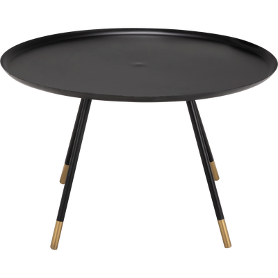 Table basse en métal noir et doré-BORON