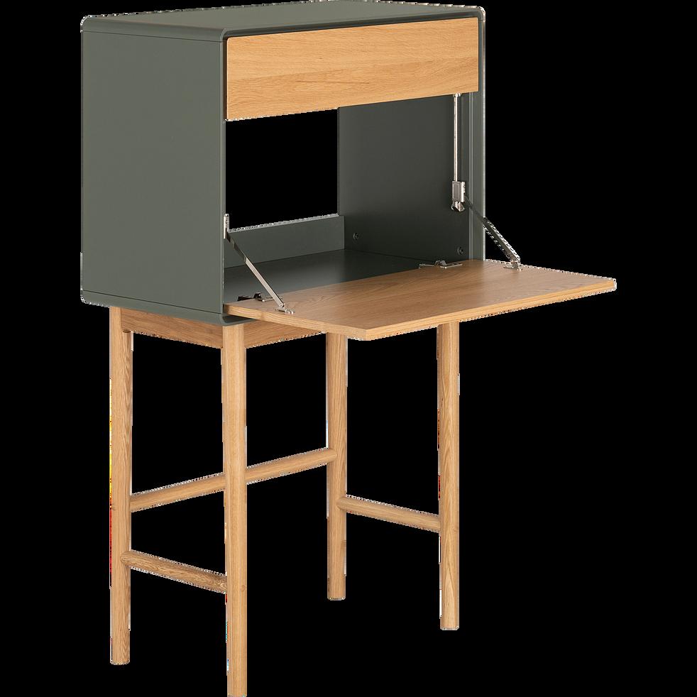 Secrétaire en bois vert cèdre-VERDET