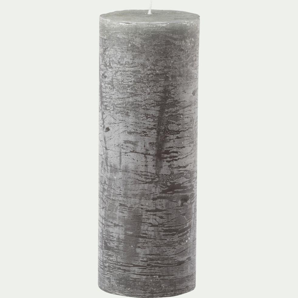 Bougie cylindrique - vert cèdre H19cm-BEJAIA