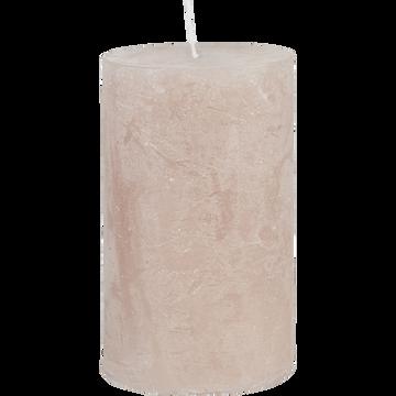 Bougie cylindrique D7xH11 cm rose grège-BEJAIA