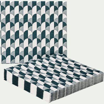 Serviettes intissées - bleu 20x20cm-ARCA