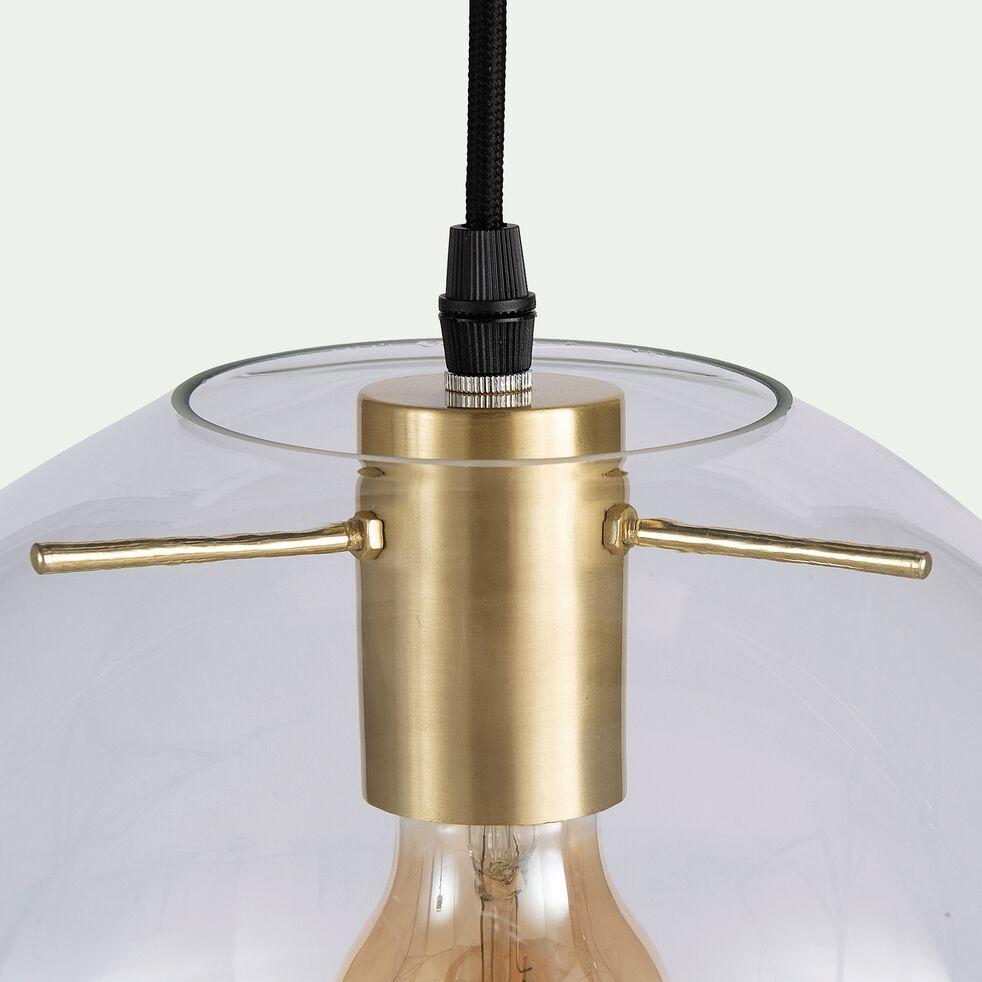 Suspension en verre et métal - doré D30xH130cm-CYRANO