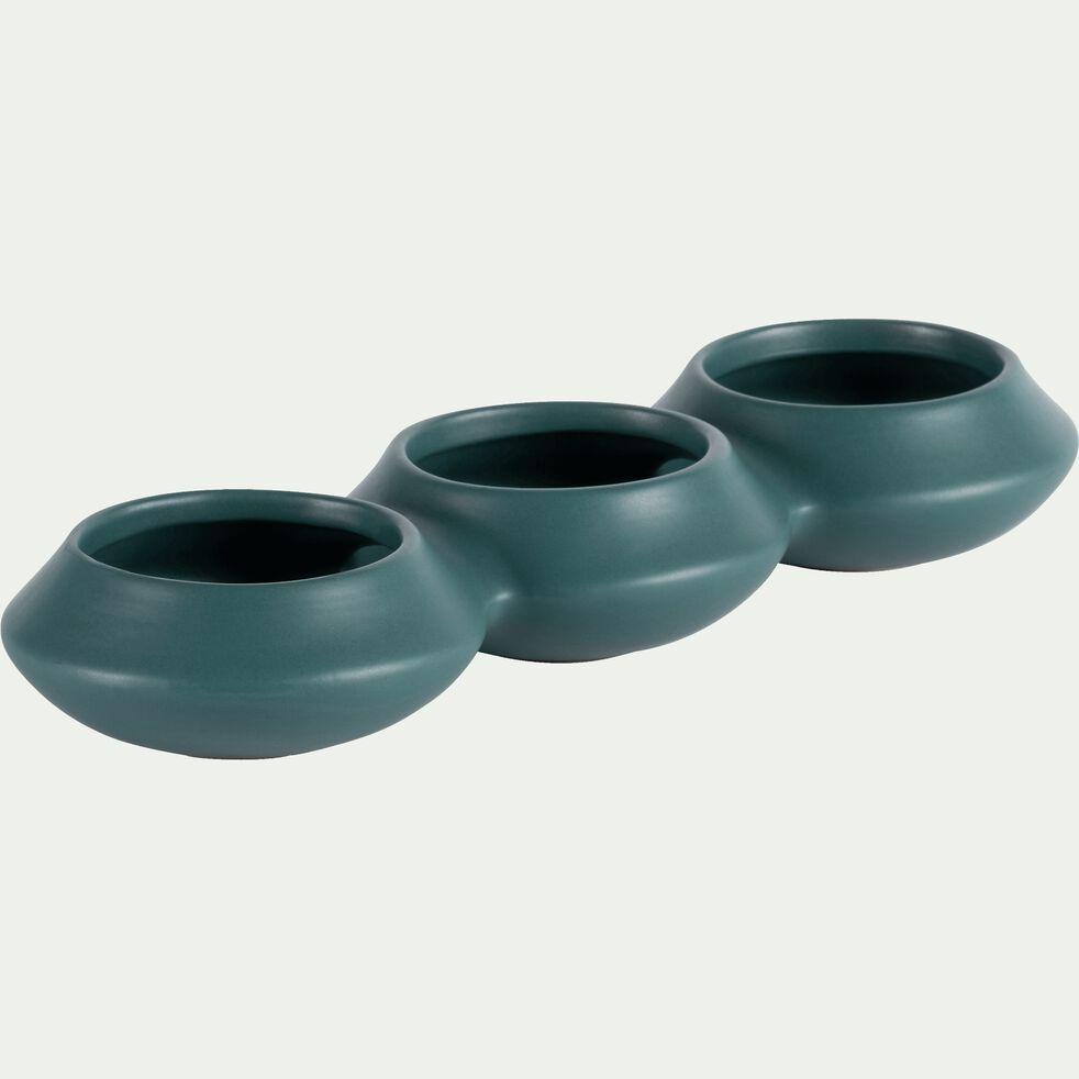 Pot avec trois ouvertures en grès bleu niolon-Sifnos